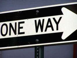 One way by brokenphoto