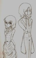 Black Butler OC's-Lilith and Anders by DreamXxXDemon178