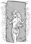 Poison Ivy sketch_pillars by Sabinerich