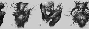 Dryad Concept Busts by GiddyGriffin