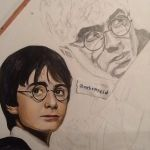 Harry Potter drawing WIP by MelieseReidMusic