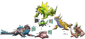 Iguana Evolution Fakemon by T-Reqs