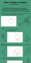 How to draw A Dragon Part 1 by xXErinDragonXx