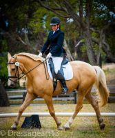 Gelato and me--Dressage trot by dressageart13