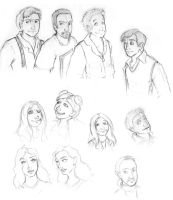 Firefly Cast Sketches by xanykaos