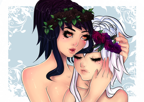 Odette And Odile by EverBlueFae