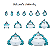 Suicune's fattening by Effra-Bulbizarre