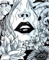 Pen and Ink Lips by jdstone