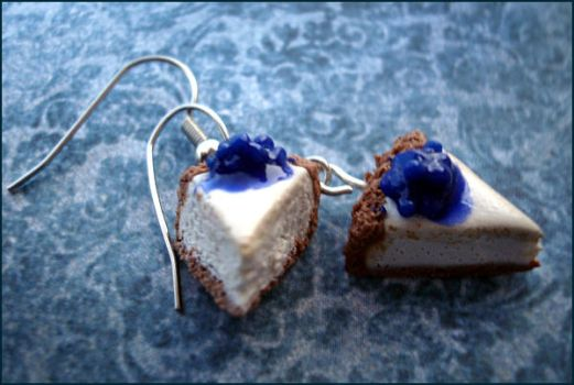 Blue Berry Cheesecake Earrings by sheratosh