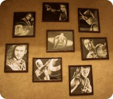The Avengers Project Completed Art Collection by artbyjoewinkler