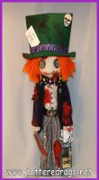 The Mad Hatter... as a zombie rag doll by Zosomoto
