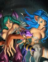 darkstalkers girls XD by Xmagician20X