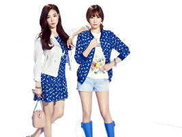[PNG/Render#19] TaeYeon vs Tiffany by Hwanghwang