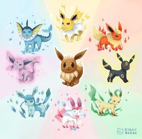 Eeveelution by eight-bears