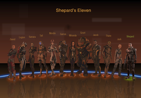 Mass Effect 2 Team by AGRbrod