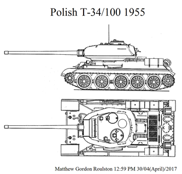 Polish T-34/100 1955 by withinamnesia