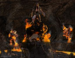 Fire Cave... Aicka by Pitoxlon