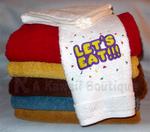 Let's Eat!!! Hand Towel by AKawaiiBoutique