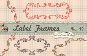Ornate Vintage Frame Borders No. 14 by starsunflowerstudio
