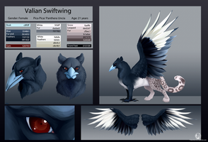Valian Swiftwing Reference Sheet by VaraAnn