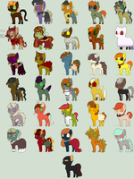 Mystery Nightmare Night adoptables -OPEN- by Jirachi-Adopties