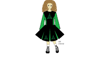 Irish Dancer (moi) for St. Patty's Day Collab by sasukeissohot97