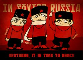 Russian Dancing Brothers by lovescraf