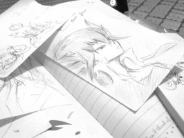 Fudo Yusei - just a little doodle in class by XiaoXiongMao