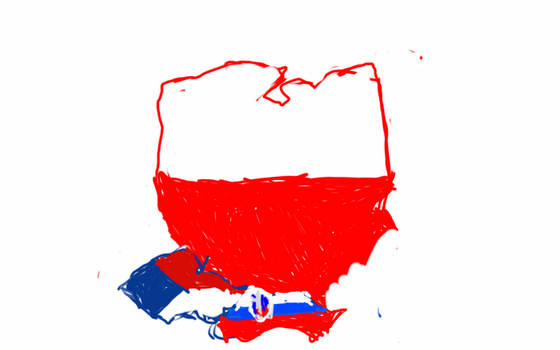 Poland and Czech Republic and Slovakia flag Map by UNPSTcommandermark
