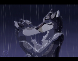 A Kiss in the Rain by WindWo1f
