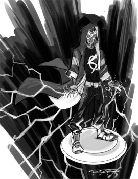 Sketch::Static Shock by KharyRandolph