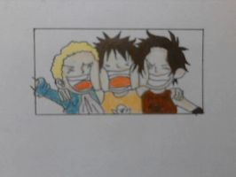 Ace,Luffy,sabo by thaisoul