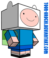 Finn the human cubeecraft by Toon-Orochi