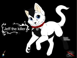 Jeff The Killer Cat by deaththekidfan229
