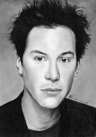 keanu reeves art drawing by riefra