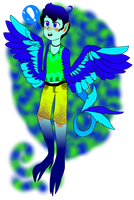 JOHN THE BRIGHTLY COLORED SHOTA HARPY by PinkbloodsDominate