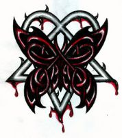 Celtic Butterfly Heartagram by 13star