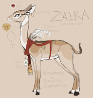 Zaira the Gerenuk Ref by MBPanther