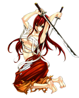 Fairy Tail Erza Scarlet Png by bloomsama