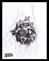 my hand tattoo design by A-T-G-4