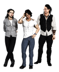 Indigo, Daken and Talon by anironbutterfly