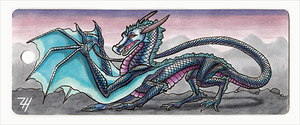 Ice Dragon Bookmark by ZoeHildebrand-R