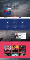 Tuner - One Page Portfolio PSD Template by DarkStaLkeRR