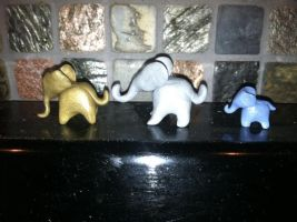 Polymer Clay Elephants by Circumspecto
