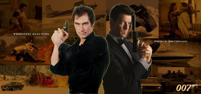 Timothy Dalton and Pierce Brosnan (007 Tribute) by LostMagikNyram