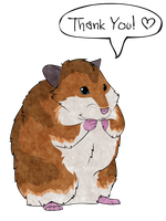 "Hamster says ""Thank you"" by Blue-Storm-Spirit"