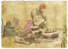 Thomas the Leap Year sketching Elf 3 by D-Gee