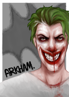 Arkham jOker. by sugargams