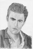 Stefan- The Vampire Diaries by neongranola