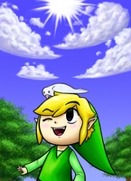 Spirit Tracks Happy Link by Firedblue